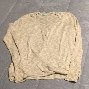 Beige cris cross sweater